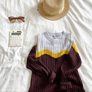 COS color block sweater